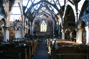 A fire destroyed Immanuel Chapel in the Fall of 2010. (File photo)