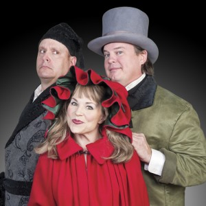 "Michael Sharp (left) reprises the role of Scrooge in MetroStage's ""A Broadway Christmas Carol."" This is the third consecutive year the North Royal Street playhouse has put on the show, which is a new twist on an old classic. (Photo/Metrostage)"