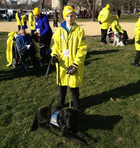 Sam and Theda preparing for the inauguration parade in Washington earlier this week. Courtesy Photo