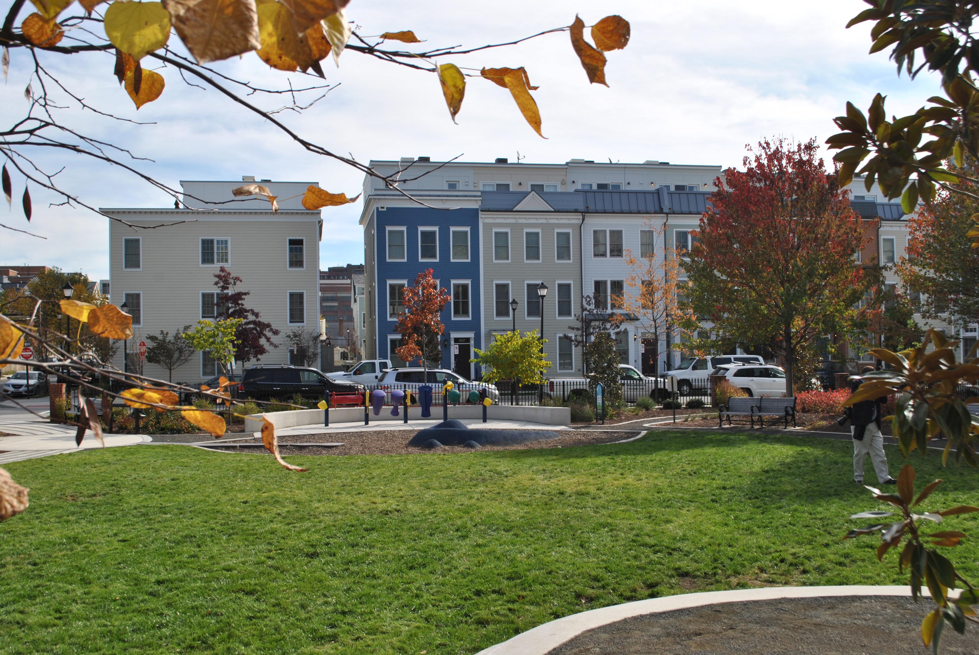 city, developer celebrate completion of james bland redevelopment