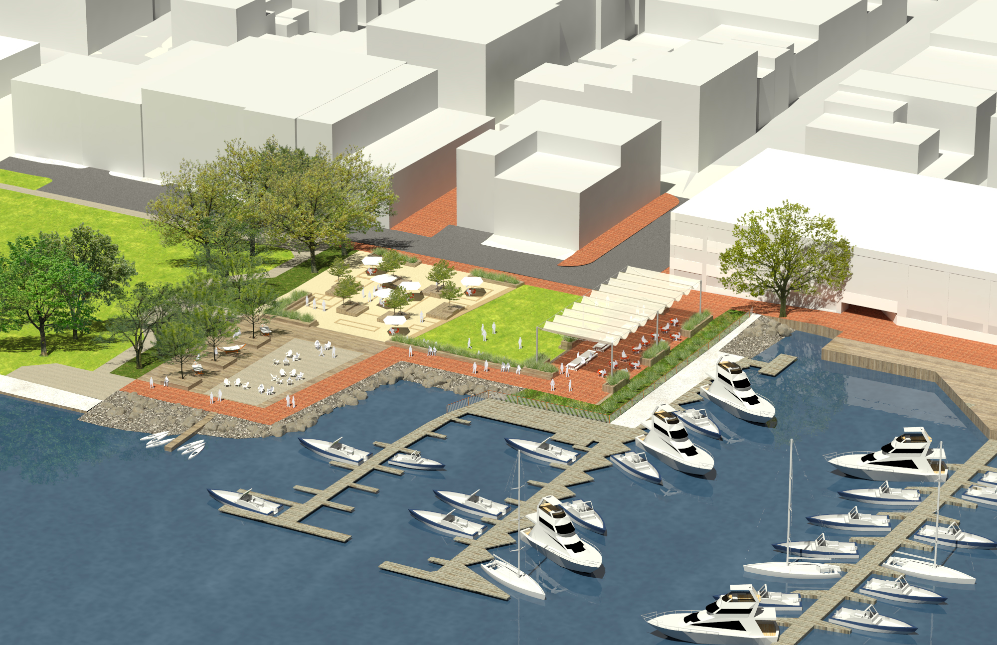city council forges ahead with interim waterfront park