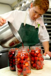 Chef Cathal Armstrong chooses to preserve seasonal strawberries rather than buy them year-round.