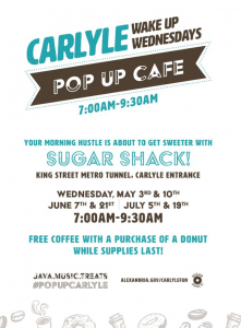 Wake Up Wednesdays - Pop Up Cafe @ Duke Street Tunnel Connecting Carlyle to King St Metro | Alexandria | Virginia | United States