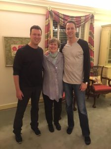 Dave Flemming, mother Carter Flemming and Will Flemming.
