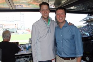 Will (left) and Dave Flemming at AT&T Park in San Francisco.