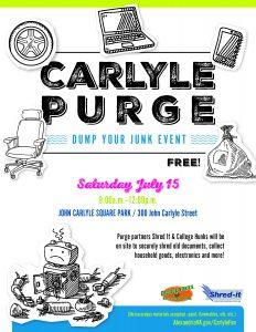 Carlyle Purge - Dump Your Junk Event @ John Carlyle Square Park | Alexandria | Virginia | United States