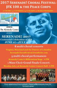2017 Serenade! Washington, D.C. Choral Festival: A JFK 100 Celebration @ The John F. Kennedy Center for the Performing Arts | Washington | District of Columbia | United States