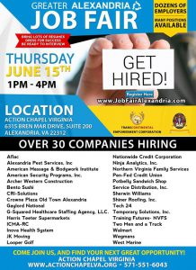 Greater Alexandria Job-Fair @ Action Chapel Virginia | Alexandria | Virginia | United States