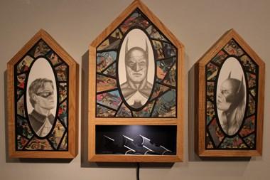 Bat Man triptych