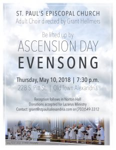 Ascension Day Choral Evensong @ St. Paul's Episcopal Church | Alexandria | Virginia | United States