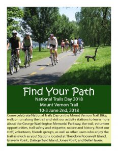 National Trails Day on The Mount Vernon Trail @ Mount Vernon Trail | United States