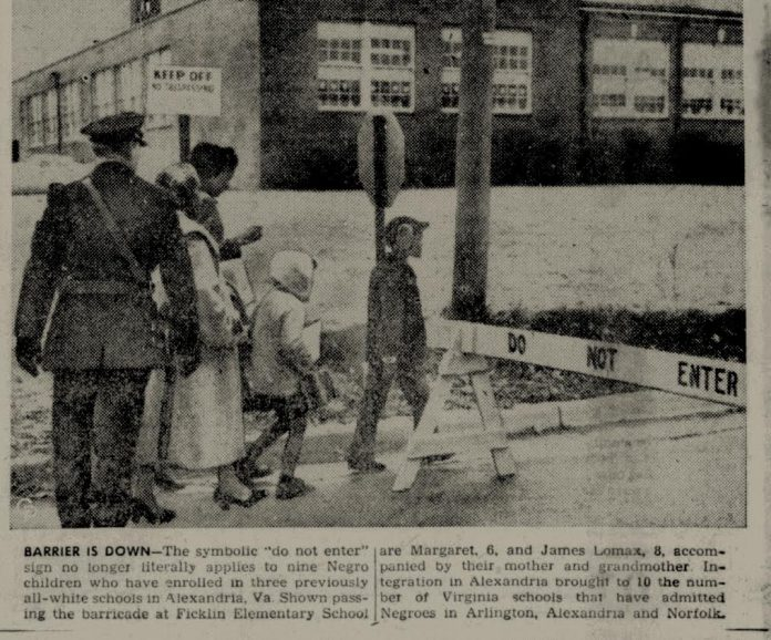 Clipping From The Feb. 11, 1959 Oxnard Press Courier Shows Siblings  Margaret And James Lomax, Accompanied By Their Mother And Grandmother,  Crossing The Road ...