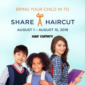 Hair Cuttery's Share-A-Haircut for Kids in Need Aug 1-15 @ Hair Cuttery | Alexandria | Virginia | United States
