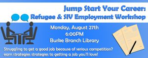 Refugee, SIV & Immigrant Employment Workshop @ Ellen Coolidge Burke Branch Library | Alexandria | Virginia | United States