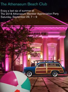 The 2018 Athenaeum Member Appreciation Party @ Northern Virginia Fine Arts Association @ the Athenaeum | Alexandria | Virginia | United States