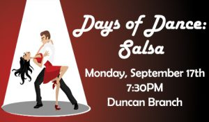 Learn to Salsa! @ James M. Duncan, Jr. Branch Library