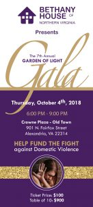 BETHANY HOUSE GARDEN OF LIGHT GALA @ Crowne Plaza Old Town Alexandria | Alexandria | Virginia | United States