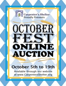 Carpenter's Shelter's OctoberFest Online Auction @ Online Auction hosted by Charity Auctions Today | Alexandria | Virginia | United States