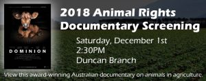 2018 Animal Rights Documentary Screening @ James M. Duncan, Jr. Branch Library | Alexandria | Virginia | United States