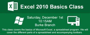 Excel 2010 Basics Class @ Ellen Coolidge Burke Branch Library | Alexandria | Virginia | United States