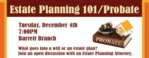 Estate Planning 101/Probate @ Kate Waller Barrett Branch Library | Alexandria | Virginia | United States