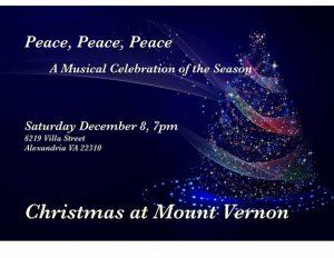 Peace, Peace, Peace - A Musical Celebration of the Season @ Church of Jesus Christ of Latter Day Saints | Alexandria | Virginia | United States