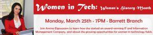 Women in Tech: Women's History Month @ KATE WALLER BARRETT BRANCH LIBRARY