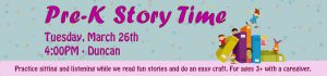 Pre-K Story Time @ CHARLES E. BEATLEY, JR. CENTRAL LIBRARY