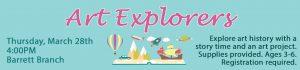 Art Explorers - Spring Session @ KATE WALLER BARRETT BRANCH LIBRARY