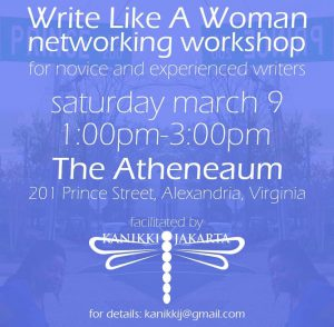 Write Like A Woman Networking Workshop With KaNikki Jakarta @ Northern Virginia Fine Arts Association @ the Athenaeum