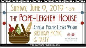 Frank Lloyd Wright's Birthday Picnic & Party! @ Woodlawn & Pope-Leighey House