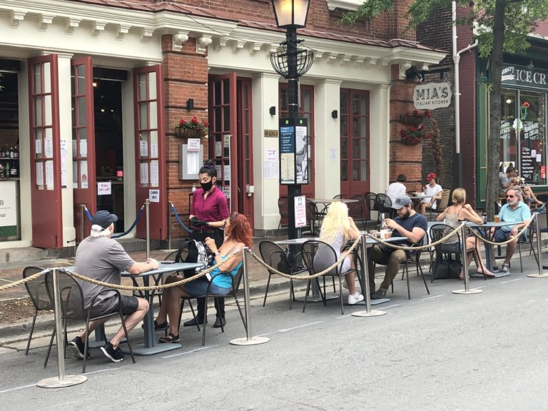 King Street opens for business with pedestrian zone and expanded outdoor dining