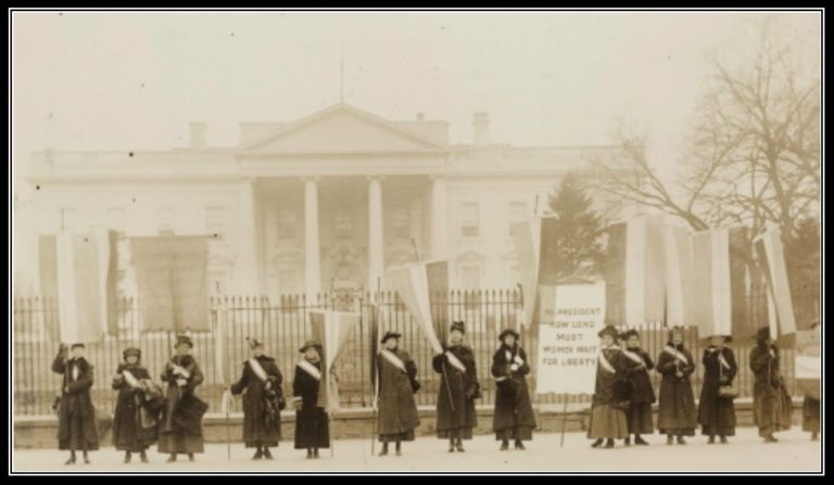 The women's suffrage movement – a template for modern protests