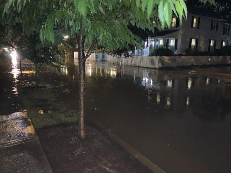 Flash floods strike Parkfairfax, Del Ray